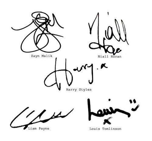 the boys' signatures.