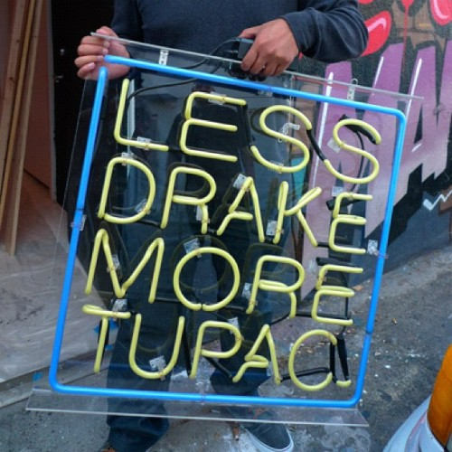 s-p-m:  #lessdrakemoretupac (Taken with instagram)