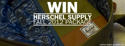 lacebag:  Win a Herschell Supply package from the Fall 2012 collection. Just reblog! Check: http://www.lacebag.nl/win-herschel-supply-fall-2012-package/