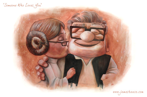 "Latest Print: 'Someone Who Loves You' (18""x12"") Available at http://www.jameshance.com (US / Canada) and http://www.jameshance.co.uk (UK / Europe) This is my most favorite thing I've ever done, I almost didn't want to finish it! From the emails and messages it seems that this painting in particular has really touched some people - It's truly an honor to be told that something I painted can stir such emotion - can't ask for more than that… Thank you again for your exceedingly kind words and support, always very much appreciated :) x"