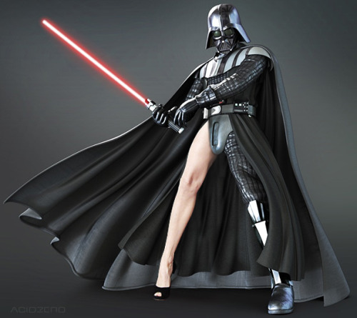 Darth Vader Angelina Jolie'ing, submitted by AcidZero