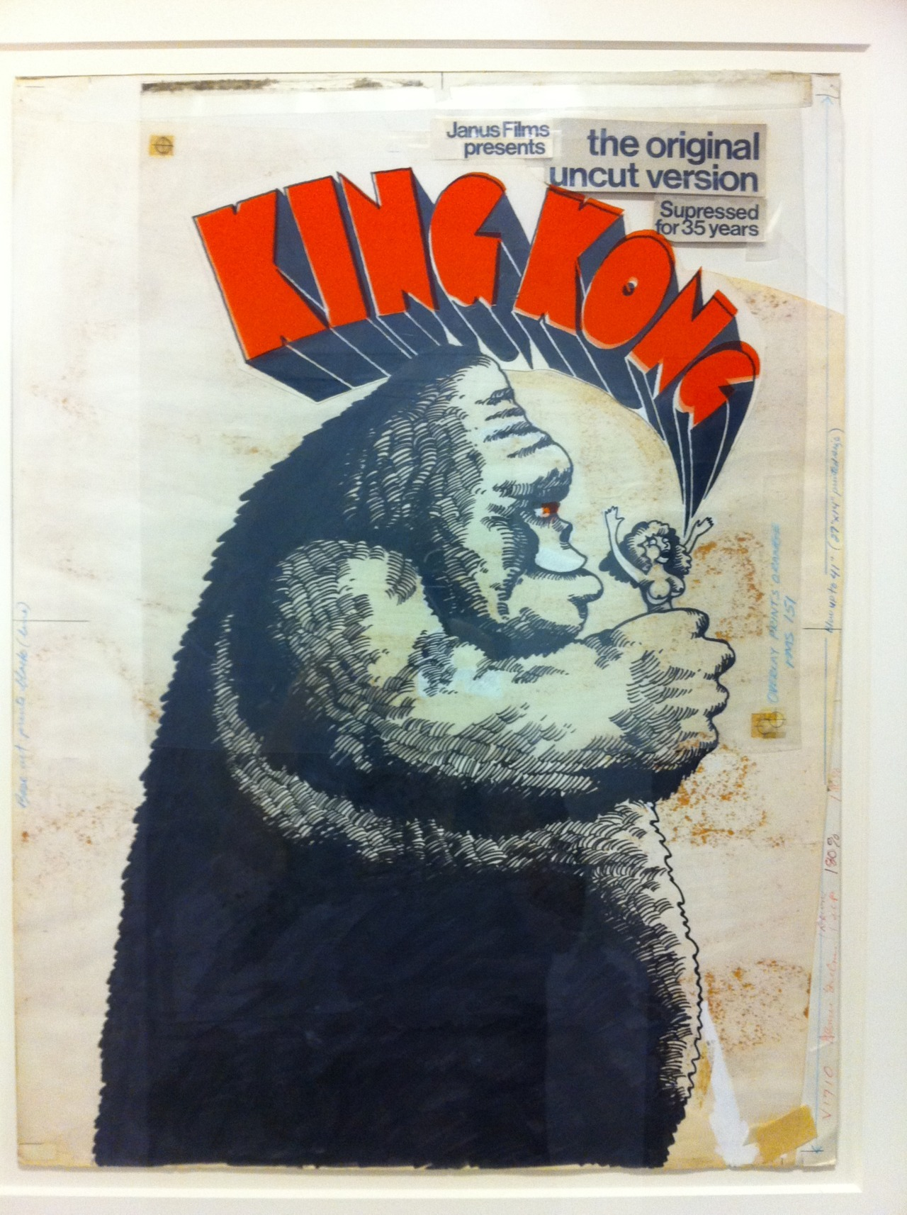 sarahhabibi:  Original Janus Films mechanicals for King Kong.