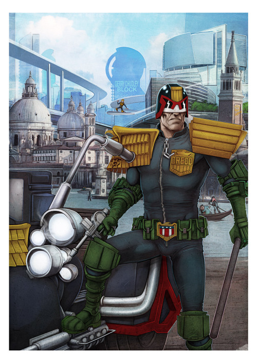 xombiedirge:  Judge Dredd by Lee Carter / Website
