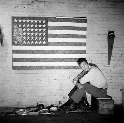 photographsonthebrain:  Jasper Johns - by Robert Rauschenberg (via Harvey Benge: Robert Rauschenberg - photographer)   Americana on the ones and twos.