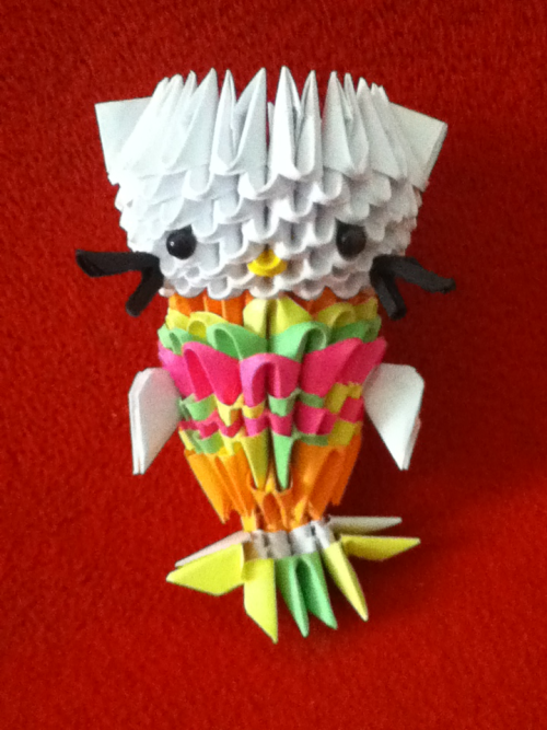 3d origami mermaid Hello Kitty!Made this one as a gift for a friend.