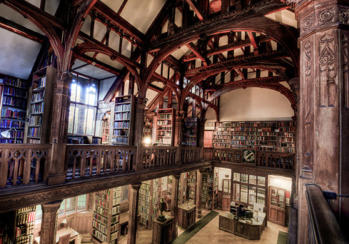 teachingliteracy:  Gladstone library by ~Akonyte