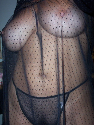 tumblr wife in sheer lingerie