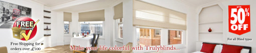 Truly Blinds offer premium Quality Cheap Blinds. Free next day delivery on samples. Free delivery on orders over £100. Beautiful blinds All at the cheapest prices.