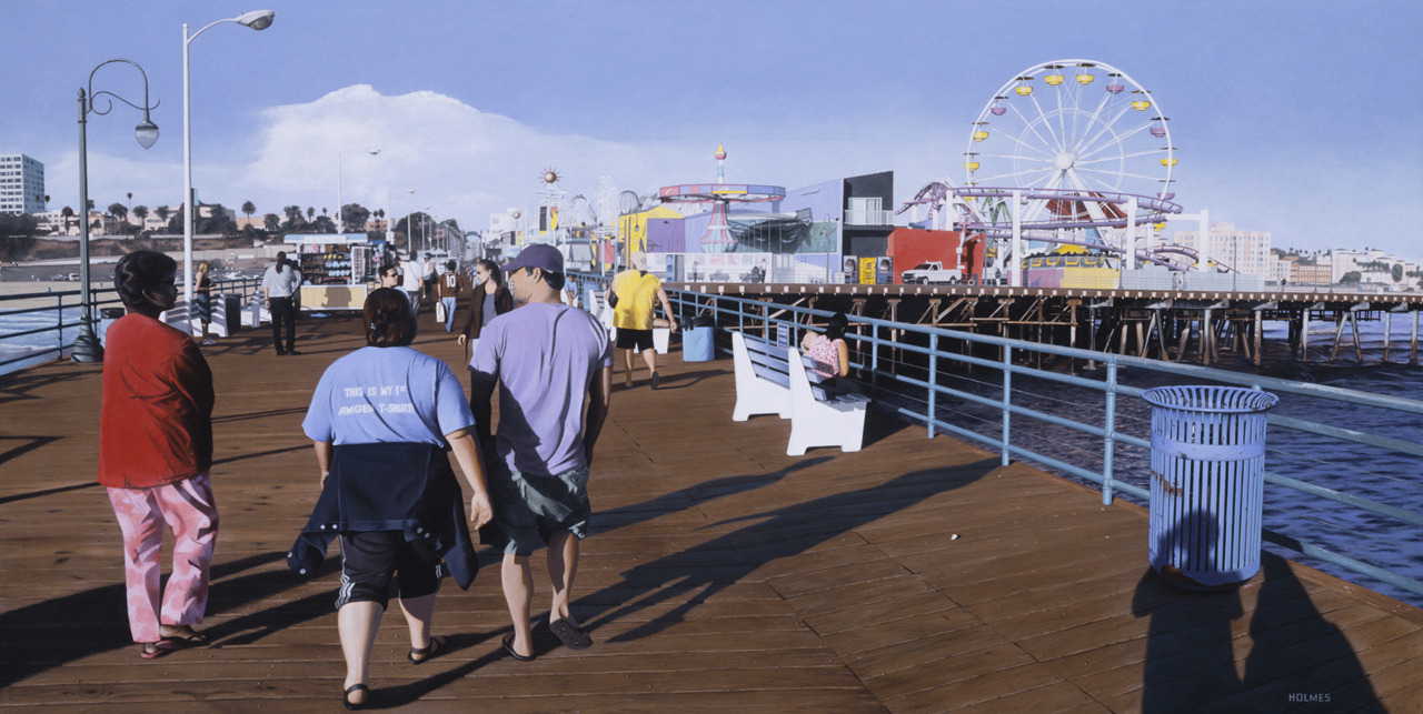 """Boardwalk""    2003 Acrylic/Canvas        48""x24"""