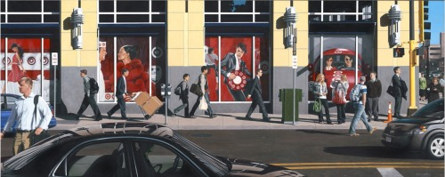 """Target Acquired""2008 Acrylic/Wood        80""x32"""