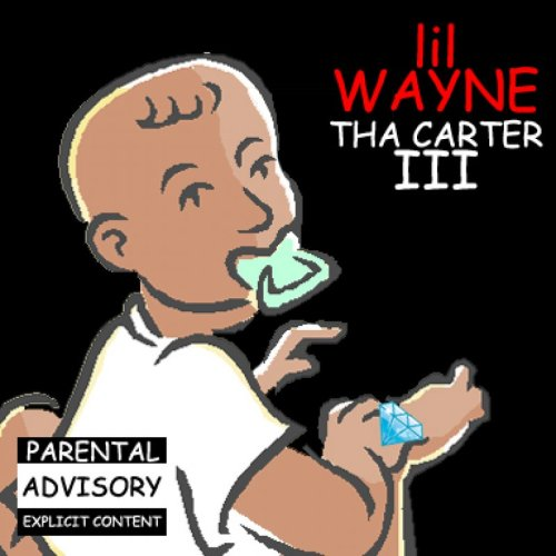 "Lil Wayne ""Tha Carter III"" Clipart Cover   Perfect for that report you wrote 15 years ago about albums that might come out in the future."