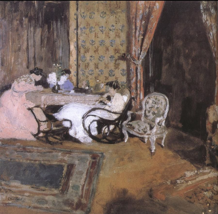 Edouard Vuillard Three women in the sitting room here