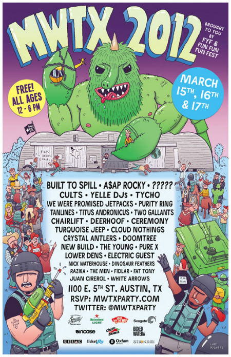 Now here's a dope SXSW party.  A$AP Rocky, Cloud Nothings, The Men, Lower Dens, Titus Andronicus…the list goes on and on.  Click the photo to RSVP.