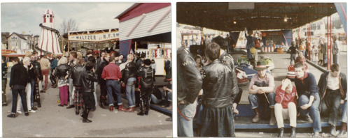Punks and skinheads in Dreamland, Margate, circa 1978. Mixing well, which would probably have not have been the case about 3 or 4 years later.