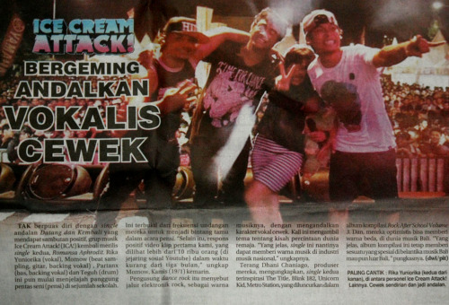 Ice cream Attack on Radar Bali (Jawa Post group) at 20th January 2012