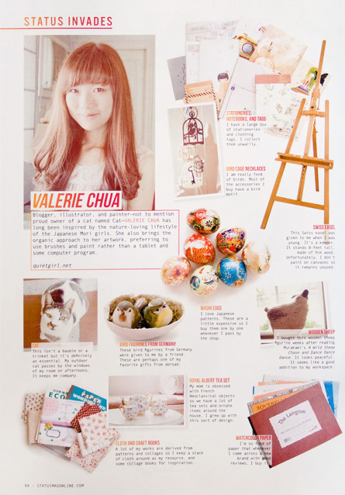 Back (inside) page of Status Magazine. *u* Thanks for the feature, Status.Blog entry.