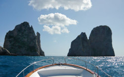 Have you already started making plans for your holiday on Capri? Whilst you're checking out the hotels and restaurants on this beautiful Italian island, have a look at Capri Whales too, the number 1 for boat and dinghy rentals on Capri. If you'd rather somebody else took the helm, Gennarino and his crew of multilingual sailors will be happy to sail you around Capri, across the sea to the Amalfi Coast, and as far as the neighboring islands of Ischia and Procida .