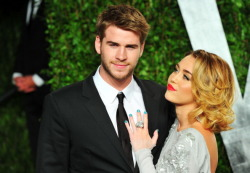 Miley and Liam at Vanity Fair party 2012