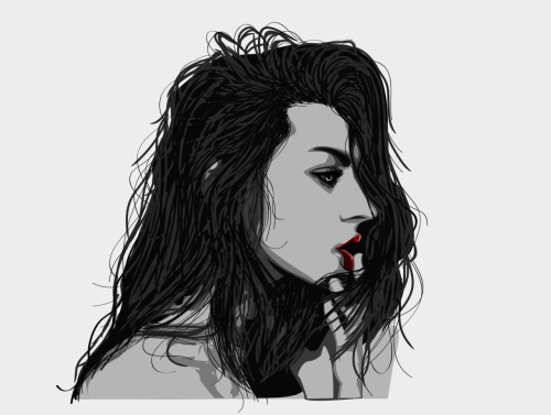 Frances Bean Cobain vector reinterpretation, by me.