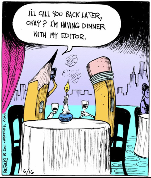 "booksdirect:  "" … I'm having dinner with my editor."""