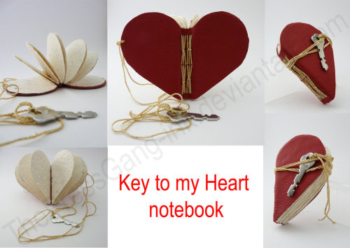 tofukitten:  Key to my Heart notebook by ~ThePressGang-ink