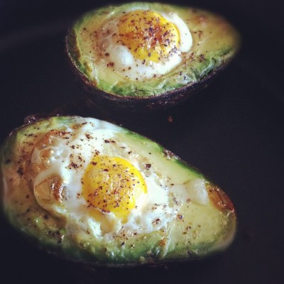 Egg X Avocado <3 #breakfast #avocados #eggs #cooking (Taken with instagram)