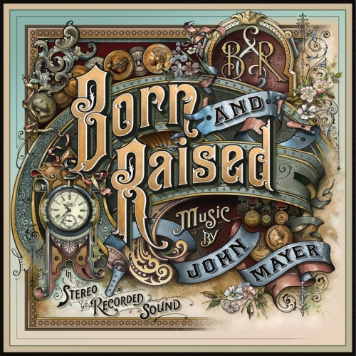 'Born and Raised' album cover.