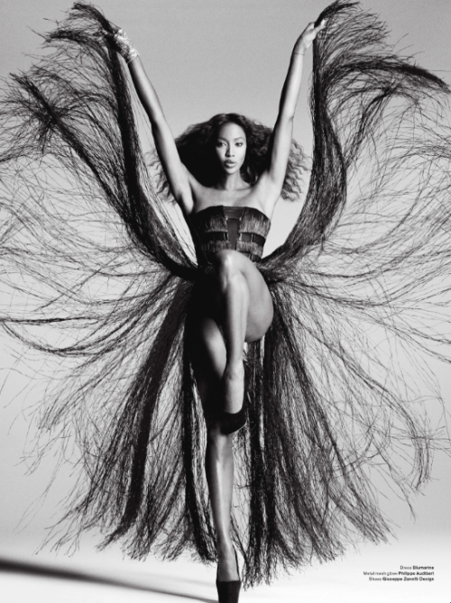 billidollarbaby:  Naomi Campbell Channels Tina Turner for V Magazine, March 2012