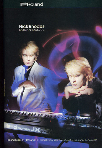 Roland Super JX-10  Nick Rhodes (by Neil Vance)