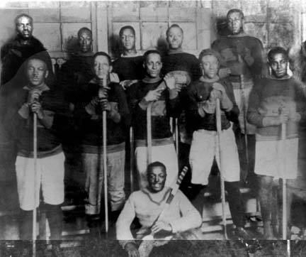 "suillira:  knowledgeequalsblackpower:  Nova Scotian Black Hockey Team, ca. 1910  The Coloured Hockey League of the Maritimes (1890s-1920s) Nova Scotia is considered the place of origin of modern ice hockey. The quantity of natural ponds ideal for skating, combined with the British gaming tradition helped facilitate the geographic and social conditions necessary for the development and creation of the game now known as Canadian hockey. The roots of Canadian hockey originated with the North American Indians but early African-Canadian players also helped shape the sport. By the mid-1890s, in an era when many believed blacks could not endure the cold, these African-Canadian athletes defied myths and developed a revolutionary style of hockey that was fast moving, tough, acrobatic, exciting, and entertaining. During the late 1890s games between black club teams in Nova Scotian towns and cities were arranged by formal invitation. By 1900, however, the Coloured Hockey League of the Maritimes was created and was headquartered in Halifax, Nova Scotia. The Colored Hockey League produced players and athletes comparable to any in Canada. These Black Nova Scotians changed this winter game from the primitive ""gentleman's past-time"" of the nineteenth century to the modern fast moving game of today. Led by skilled and educated leadership, the Coloured League emerged as a premier force in Canadian hockey and supplied the resilience necessary to preserve a unique sports culture that still exists. Unfortunately, their contributions were ignored as hockey players copied elements of the black style and often took credit for black hockey innovations. Some of these innovations important to the modern game of ice hockey included the ""slap-shot"" and the practice of goalies going down on the ice in order to stop the puck. Despite these and other important contributions to today's game of hockey, there are no monuments to the Coloured Hockey League of the Maritimes.  Although the League continued to be prominent until the mid-1920s, racism, World War I, and dramatic changes in the Nova Scotian economy all played a part in the League's demise. Nonetheless the Coloured Hockey League of the Maritimes changed the way hockey was seen and played in early Canada.   (via Black Past)  Historic."