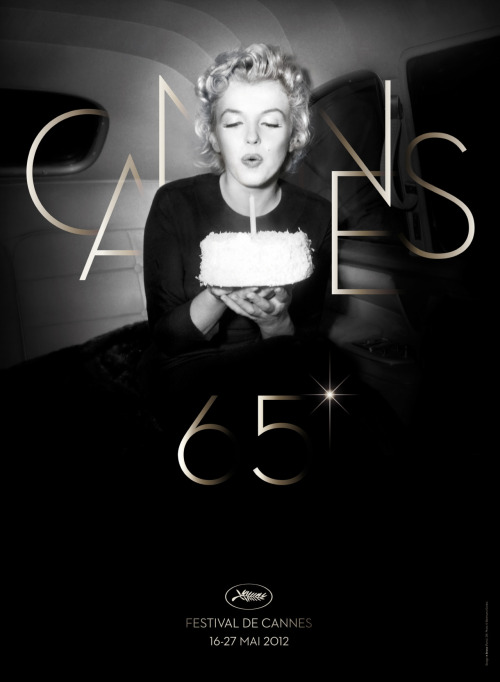 Cannes celebrates its 65th birthday this year with Marilyn.  Poster by Bronx (Paris) from a photo by Otto L. Bettmann (©Corbis/Bettmann).