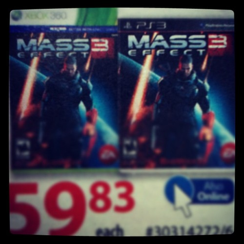 Shit son #masseffect3. It close enough to be in the flyer! (Taken with instagram)