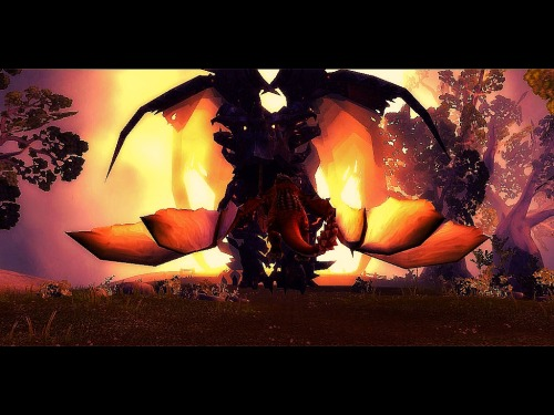 One of my screenshots from the beginning of Cataclysm. Edited for effect.