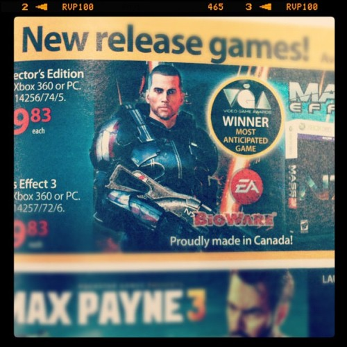 Proudly made in Canada! #masseffect3  (Taken with instagram)
