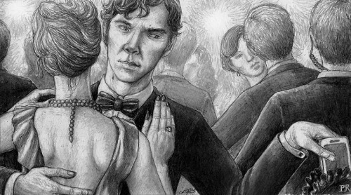 """Sherlock after the Fall: Performing"" Sixth in my series. Thanks to Songstersmiscellany for suggesting the title, albeit with a more musical topic in mind. I may come back to that, since I like the idea of Sherlock learning a new instrument and even a new system of music for an undercover identity. For this pic, however, I took ""Performing"" less literally, imagining that Sherlock wouldn't only be living rough while hunting down Moriarty's organisation, but also be required to mix with the (criminal) high society to obtain information."