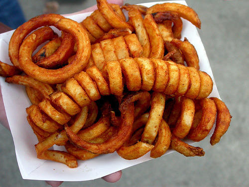 Oh gosh I just love curly fries.