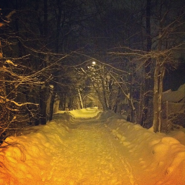 Late Night Winter. (Taken with instagram)