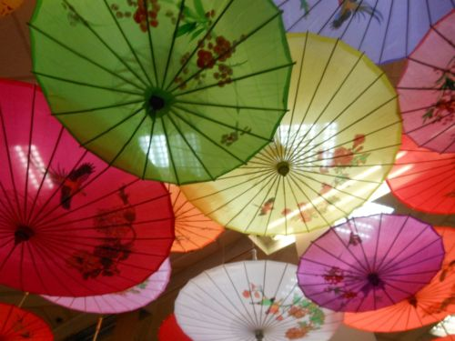 Colorful umbrellas, Paris Chinatown, 13e arrondissement