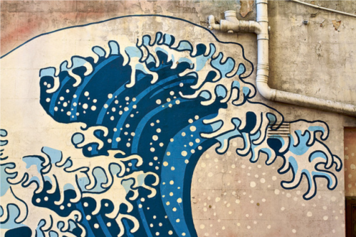 j-p-g: Hokusai mural | Flickr - Photo Sharing!