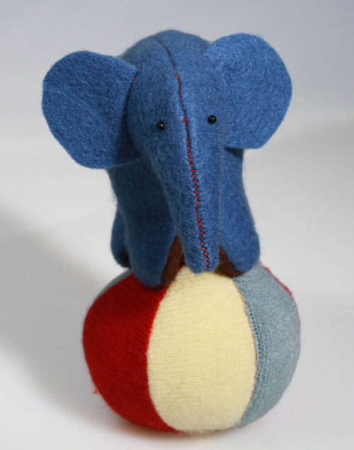 Another little felt elephant. These guys need homes!