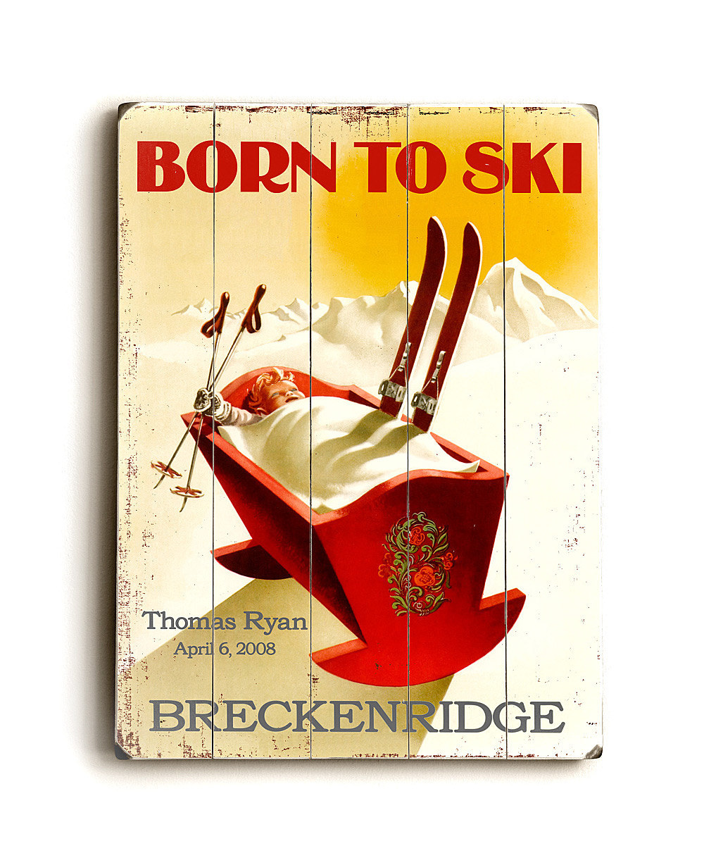 'Born to Ski' Wall art from ArteHouse on #zulily!