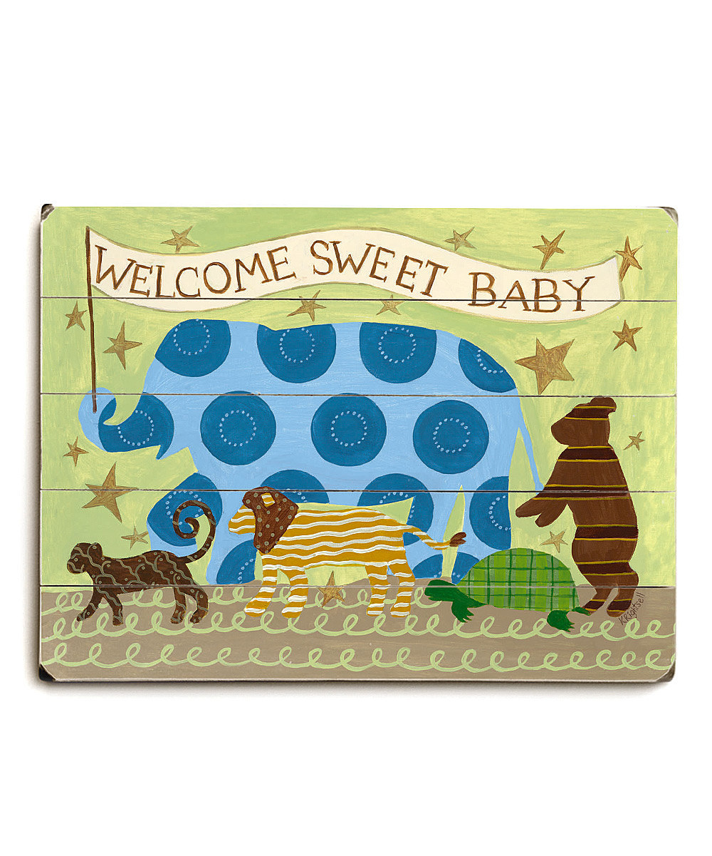 'Welcome Sweet Baby' We're in love with this ArteHouse print on #zulily today!