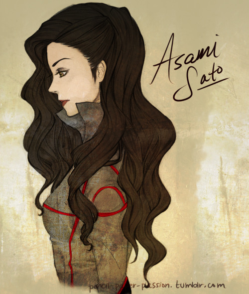 "pencil-paper-passion:  Asami Sato, her rough character design was revealed yesterday. There is no color palette yet, so I just colored it randomly. This is a sketch I just colored with SAI. Oh, and I made her hail from the Fire Nation, since she's apparently the daughter of a wealthy industrialist. I don't know about you, but when I think of ""wealthy"" and ""industralist"", I think of the Fire Nation, haha."