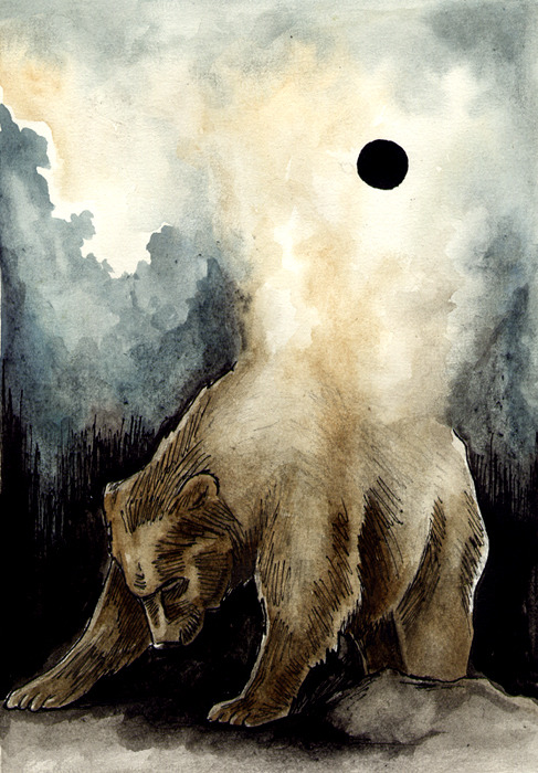 danceabletragedy:  The birth of the black sun by felix klee