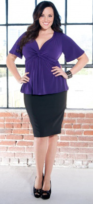 New Arrival Plus Size Paige Pencil Skirts in Black Sizes 0X-4X