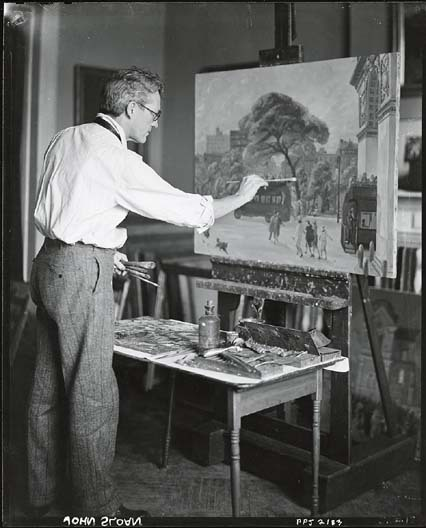 John Sloan at work in his studio   Smithsonian