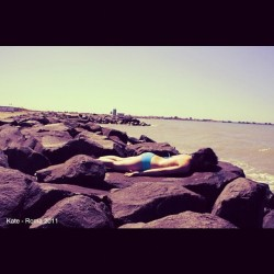 Tuesday: haha, Planking! #follow4follow#beach#planking#haha#havingfun#ostiabeach#rome#italy#summer#summervacation#trip#colors#sea#follower#instagood#instagram#me#pinay#asiangirl#asian#boring#picture#shots#photo  (Taken with instagram)