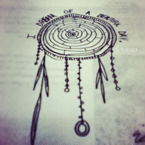 New Art! A dream catcher I made in Art History!