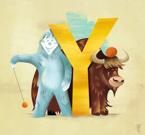 Y is for Yellow, Yetis, Yo-yos and Yak yarn.