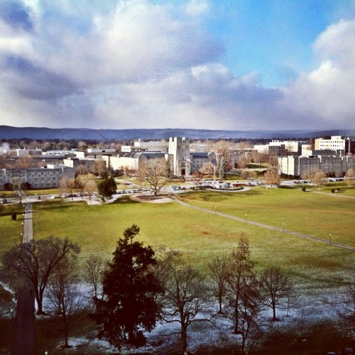 cookiecutterdipwads:  Virginia Tech :D  Can't wait until the trees are green again!